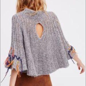 🌈Free People Wool Poncho